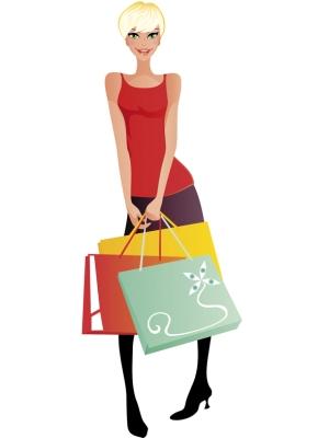 dame faisant du shopping