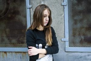 jeune fille qui déprime