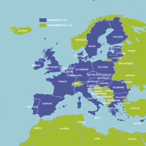 carte de l'Union Européenne(voir en grand)