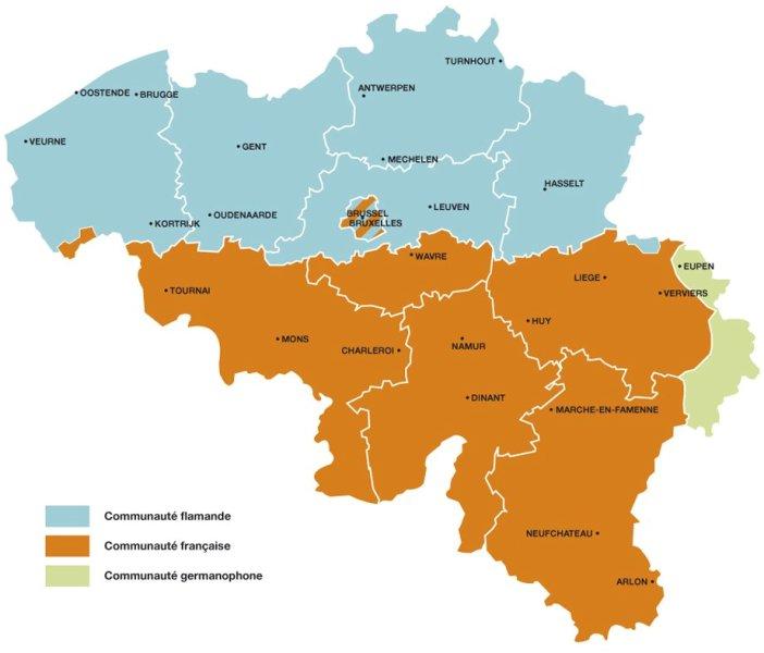 Carte Belgique Communautes Et Regions.Carte De La Communaute Francaise Douzquinz Be Guide D Information
