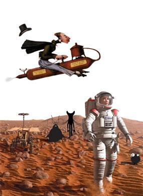 affiche de présentation Destination Mars